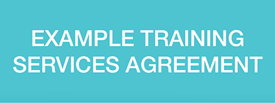 Example training services agreement - Levy payers toolkit
