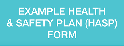 Example Health & Safety Plan (HASP)Form - Levy payers