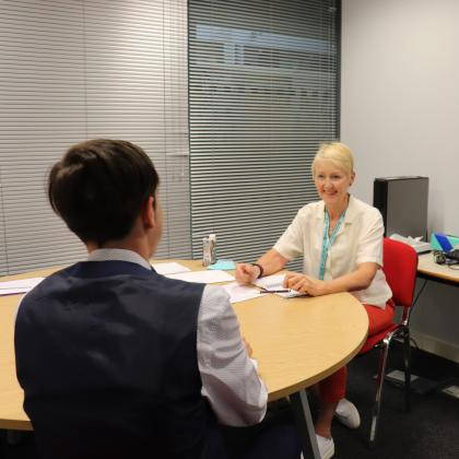 LEAP Students Take Part in Mock Interviews