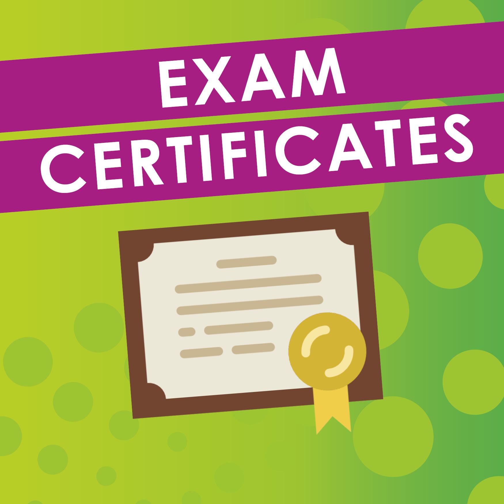 Receipt of Certificates