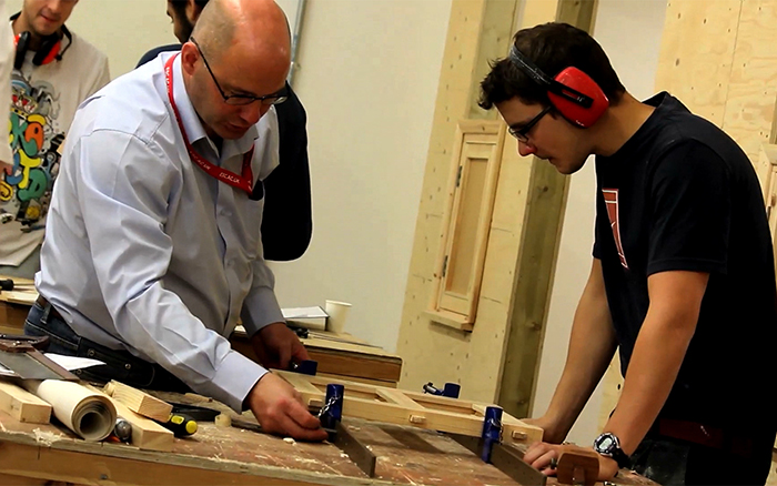 Carpentry and Joinery students
